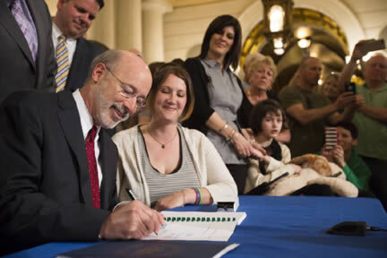 Tom Wolf Governor of PA- Signing Bill